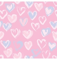 Abstract seamless heart pattern Ink vector image