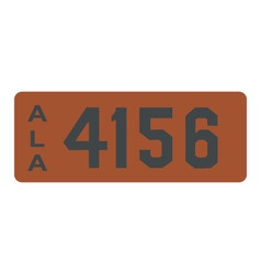 Alabama 1913 license plate vector image