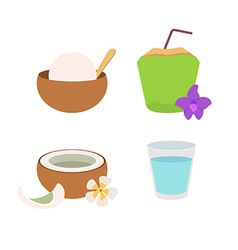coconut02 vector image