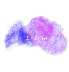 Latvia watercolor map vector image