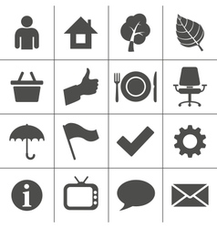 Web icons set - Simplus series vector image vector image