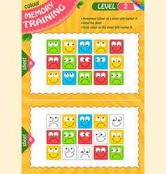 2 draw colour children adult level vector image