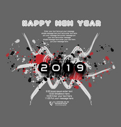 2019 happy new year abstract a stain vector image