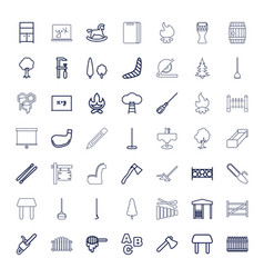 49 wood icons vector