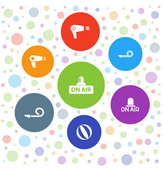 7 blow icons vector