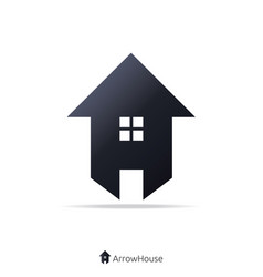 arrow and house concept logo vector image
