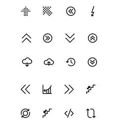 Arrows Icons 18 vector