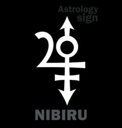 astrology orphan planet nibiru vector image