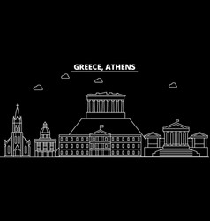 athens silhouette skyline greece - athens vector image