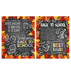 Back to school special sale offer poster design vector