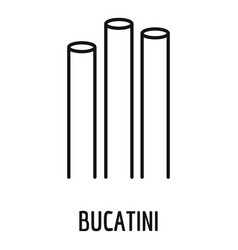 bucatini icon outline style vector image