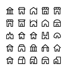 Building Icons 6 vector image