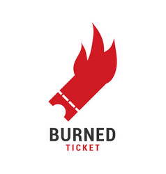 burned ticket graphic icon design template vector image