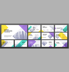 business presentation templates set vector image