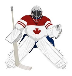 Canada hockey goalie vector