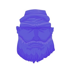 Cartoon Brutal Man Face with Beard vector