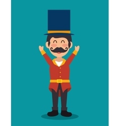 cartoon host man circus festival vector image