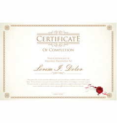 certificate or diploma template 3 vector image