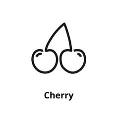 cherry line icon vector image