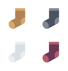 christmas socks flat style vector image