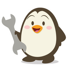 Collection of penguin with tools vector