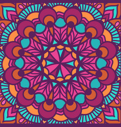 color circular pattern in square vector image