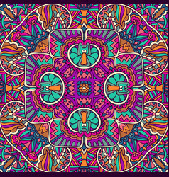 colorful tribal abstract floral pattern vector image