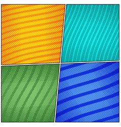 comic backgrounds colorful composition vector image