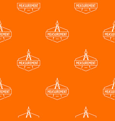 Compas pattern orange vector