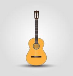 cutaway guitar classical guitar music instrument vector image