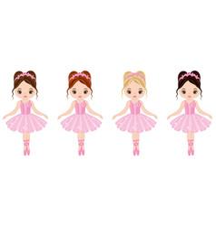 cute little ballerinas vector image