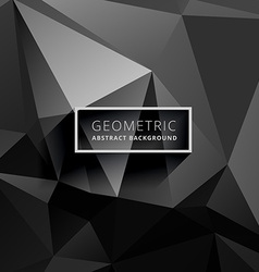 Dark black low poly background vector