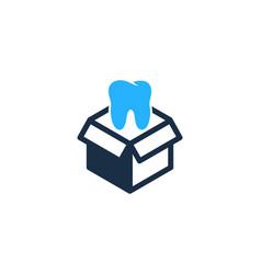 dental box logo icon design vector image