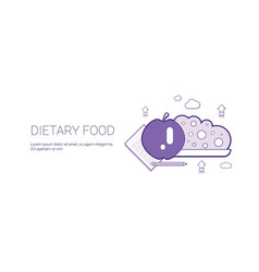 Dietary food healthy lifestyle template web banner vector