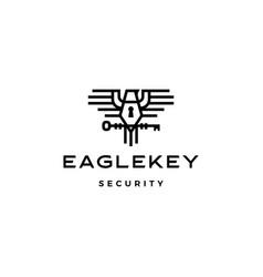 eagle key bird logo icon vector image