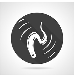 Eel black round icon vector image