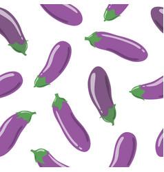eggplants seamless pattern vector image