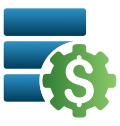 Financial Database Options Gradient Icon vector