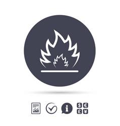 fire flame sign icon heat symbol vector image