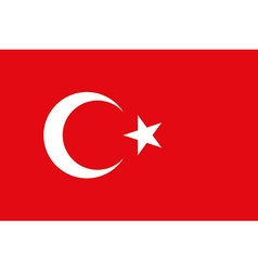 Flag of the Turkey vector image