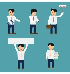 Flat businessmen set vector image