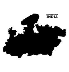 Flat map madhya pradesh state with vector