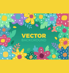 flower background in flat vector image