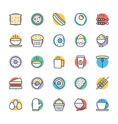 Food Cool Icons 3 vector