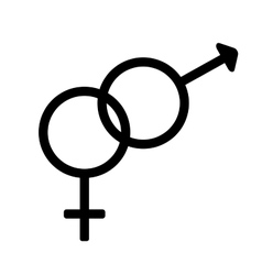 Gender sign 1308 vector image