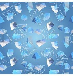 geometric abstract polygonal background vector image