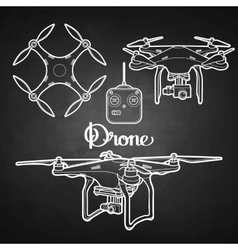Graphic collection of drones vector image