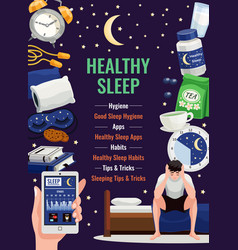 Healthy sleep poster vector