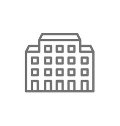 Hospital nursing home line icon vector