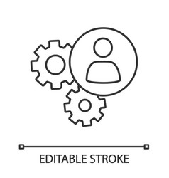 hr management linear icon vector image